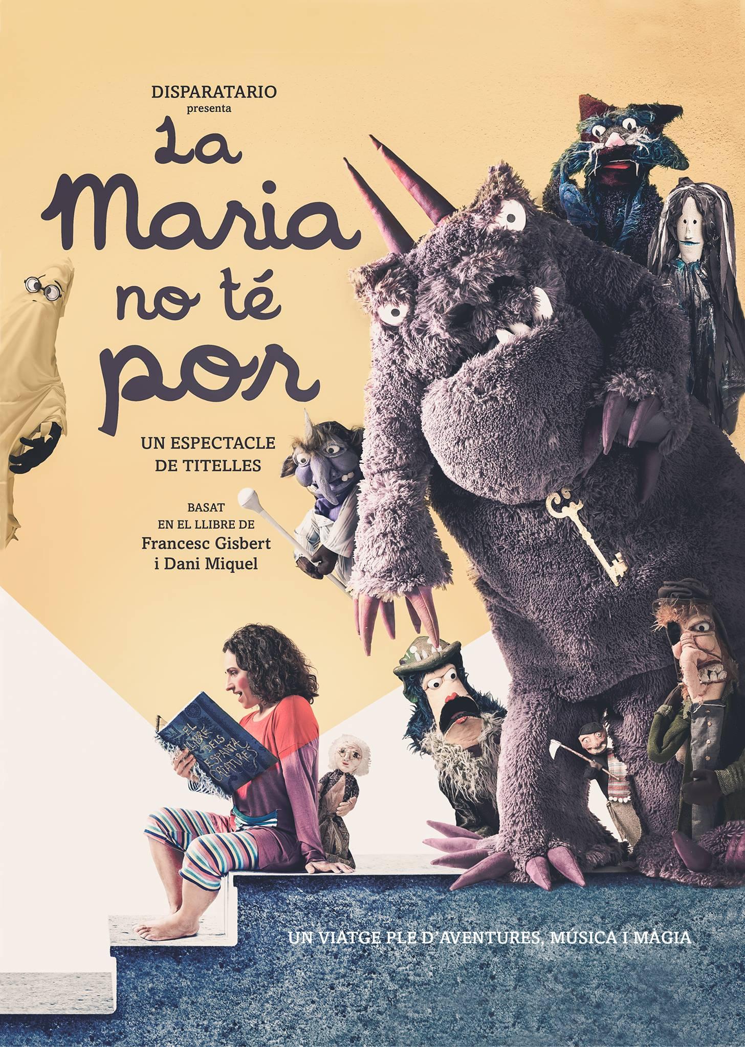 Cartel de la obra de teatro infantil La Maria no te por
